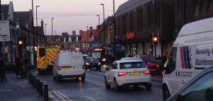Traffic on Gosforth High Street