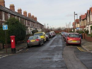 Filtered Street at the north end of Alwinton Road