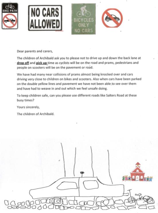 Archibald Children's Letter