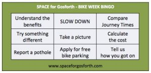 Bike Bingo Card for Bike Week