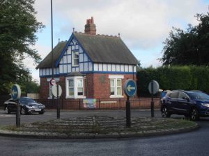 The Blue House on Newcastle Town Moor and its roundabout