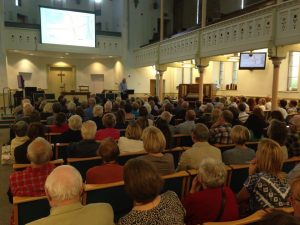 A full Trinity Church for SPACE for Gosforth's public meeting