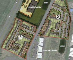 A plan of the proposals for Gosforth Business Park