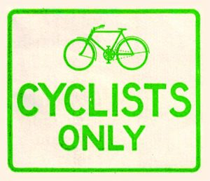 1930s cycle sign courtesy of Carlton Reid