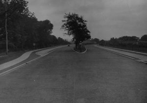 This is an archive image of the Neville's Cross Cycle Tracks on the old A1 (now A167) and is courtesy of the Durham County Archives