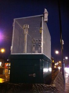 Air pollution monitor on Gosforth High Street