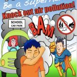 Poster encouraging drivers to turn off idling engines