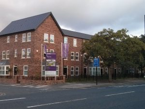 Recently built flats on Gosforth High Street