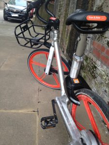 Close-up picture of a Mobike