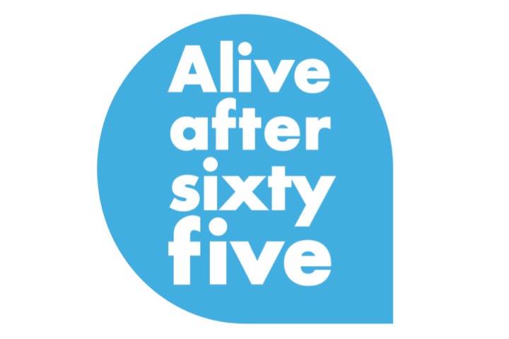 Alive after five logo with text: Alive After sixty five