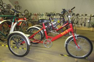 Tricycles in the Byker branch