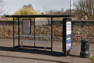 Picture of a modern bus shelter on the great north road