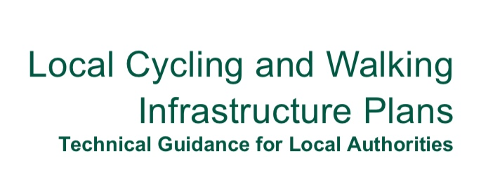 Text title: Local Cycling and Walking Infrastructure Plans