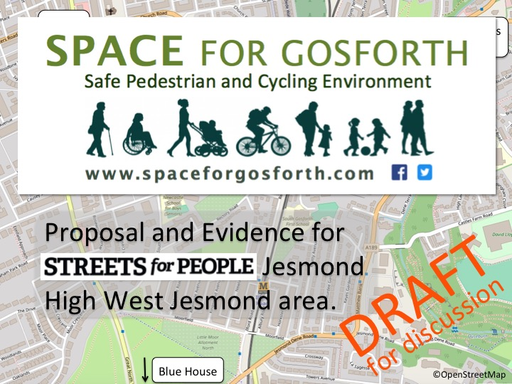 Title slide: proposal and evidence for Streets for People Jesmond