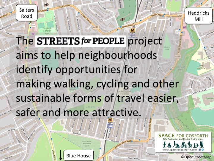 Streets for people objectives to make it easier for people to walk and cycle