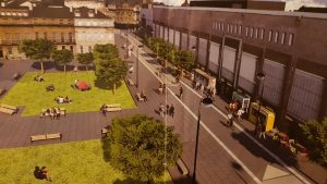 Old Eldon Square cycling mock-up