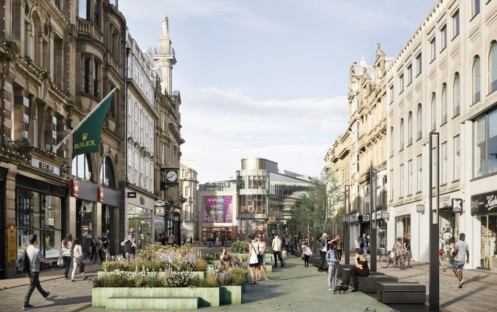 Mock up of how Blackett Street could look