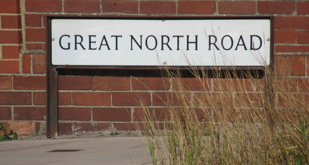 Great North Road road sign