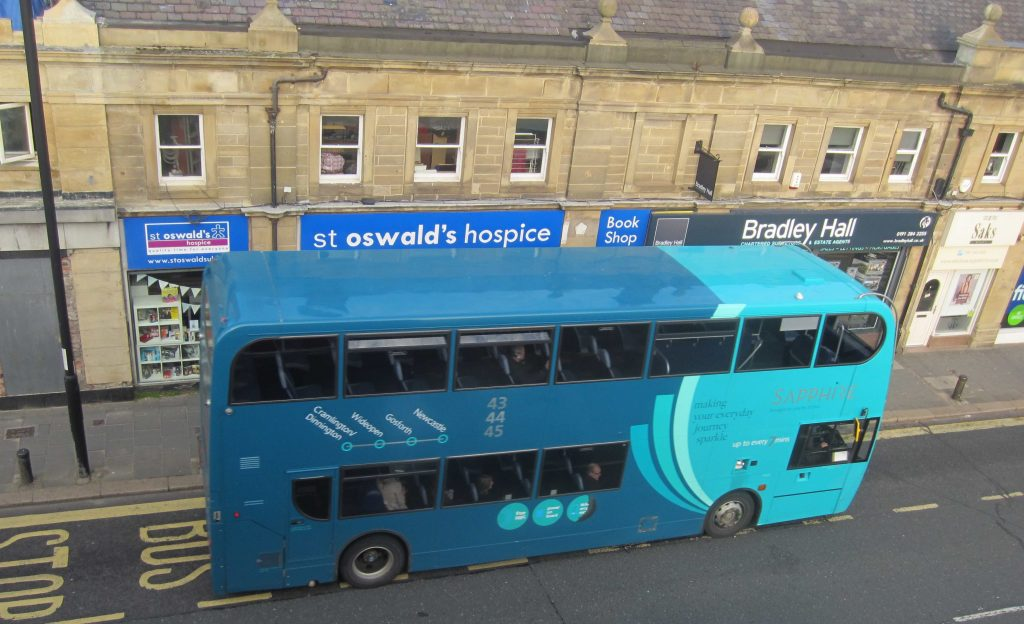 Picture of a bus on Gosforth High Street