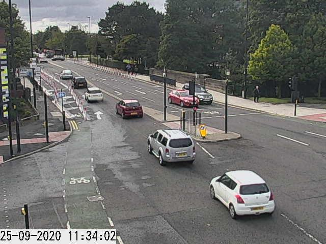 Traffic camera picture of Regent Centre junction