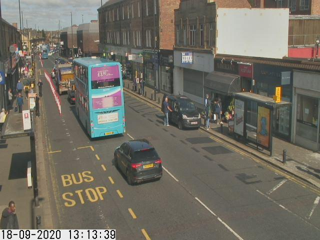 Gosforth High Street Traffic Camera view looking north from Hawthorn Road