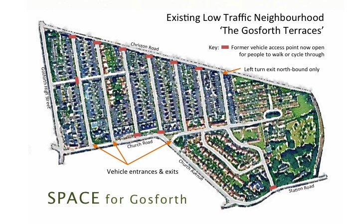 Annotated Map of The Gosforth Terraces
