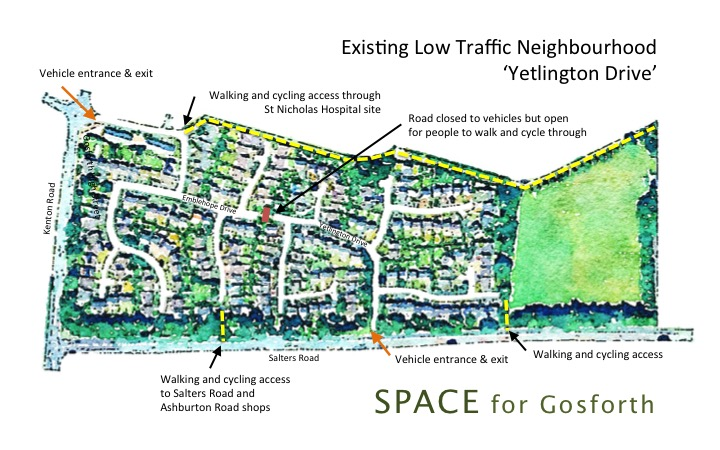 Annotated Map of Yetlington Drive