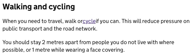 Text: walk or cycle if you can.